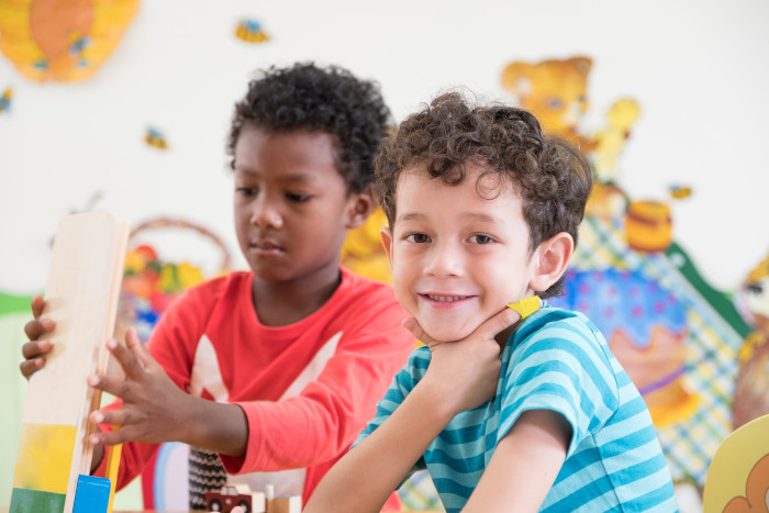 Holistic learning for these two boys increases social skills